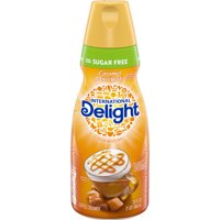 International Delight Sugar-Free Caramel Macchiato Coffee Creamer, Quart