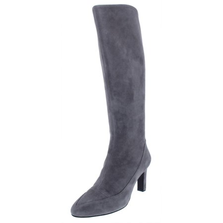 Cole Haan Womens Arlean Suede Tall Knee-High Boots Gray 6 Medium (B,M)