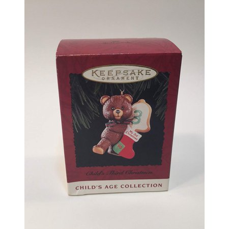Hallmark Keepsake Ornament Child's Age Collection Third Christmas ()