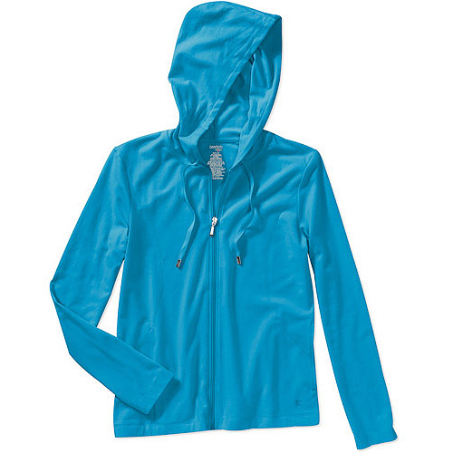 Danskin Now Women's Plus-Size Jersey Hoodie with Curved Seams