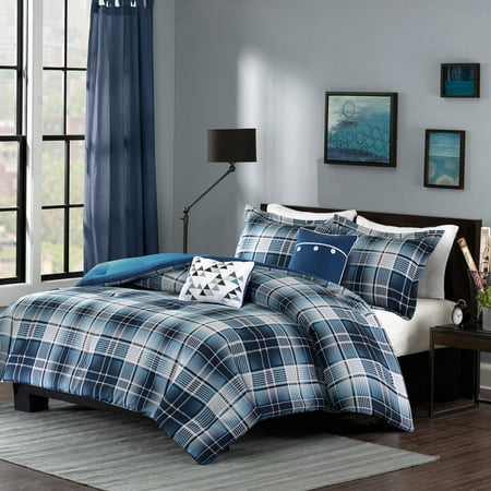 Home Essence Apartment Dane Plaid Comforter Bedding - Full Size Plaid Comforter