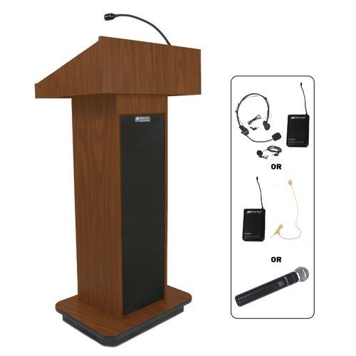 AmpliVox Wireless Executive Sound Column Lectern
