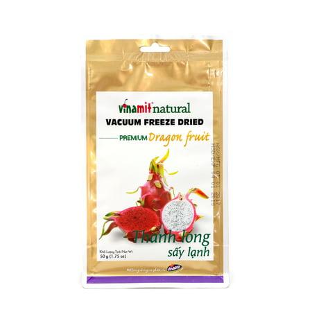 Vinamit Vietnam Vacuum Freeze Dried Dragon Fruit 1.75 oz - High Quality Food - High Quality Food