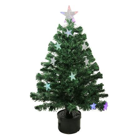 Northlight 3' Prelit Artificial Christmas Tree Color Changing Fiber Optic  LED - Northlight 3' Prelit Artificial Christmas Tree Color Changing Fiber