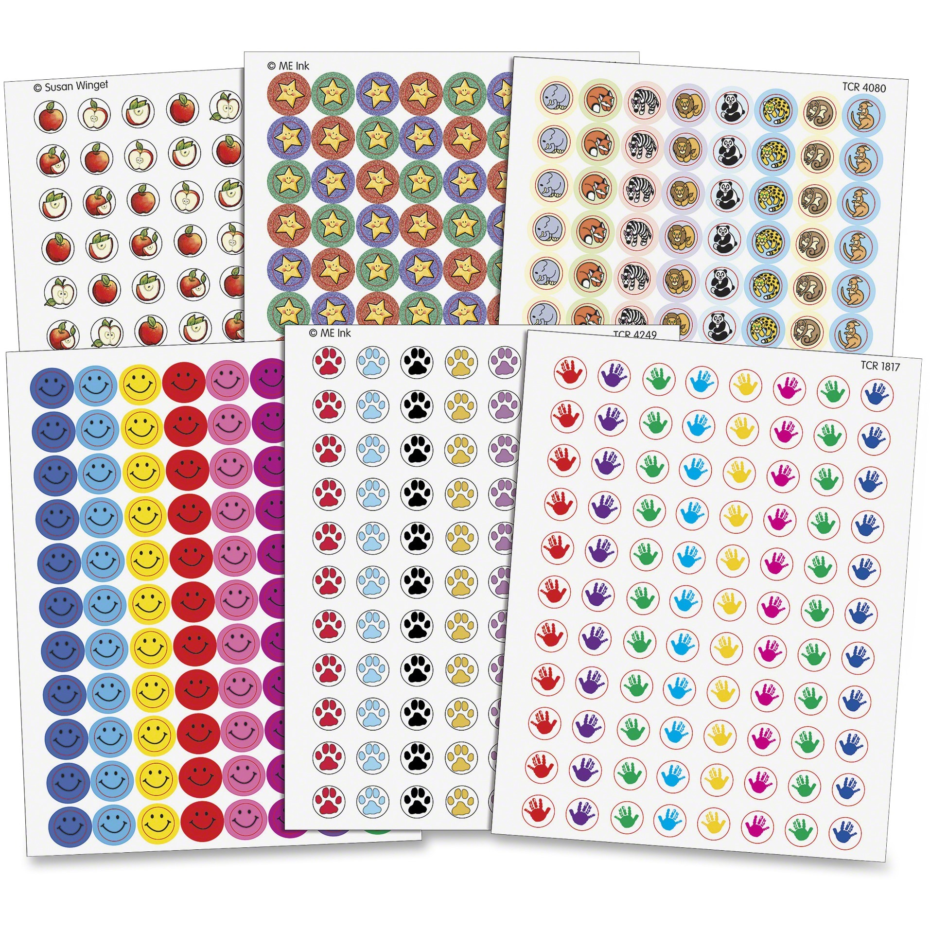 Teacher Created Resources, TCR9029, Assorted Stickers Pack, 6 / Pack, Assorted