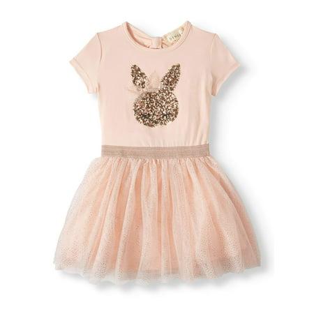 Bunny Clothes For Girls (Btween Short Sleeve Tulle Tutu Dress (Toddler)