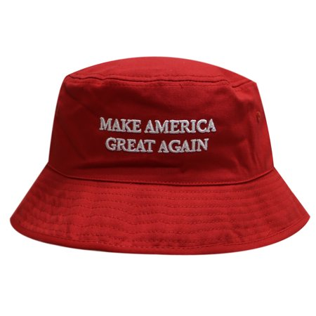 Bd2020 Trump Make America Great Again Bucket Hat Red - Red Bucket Hats