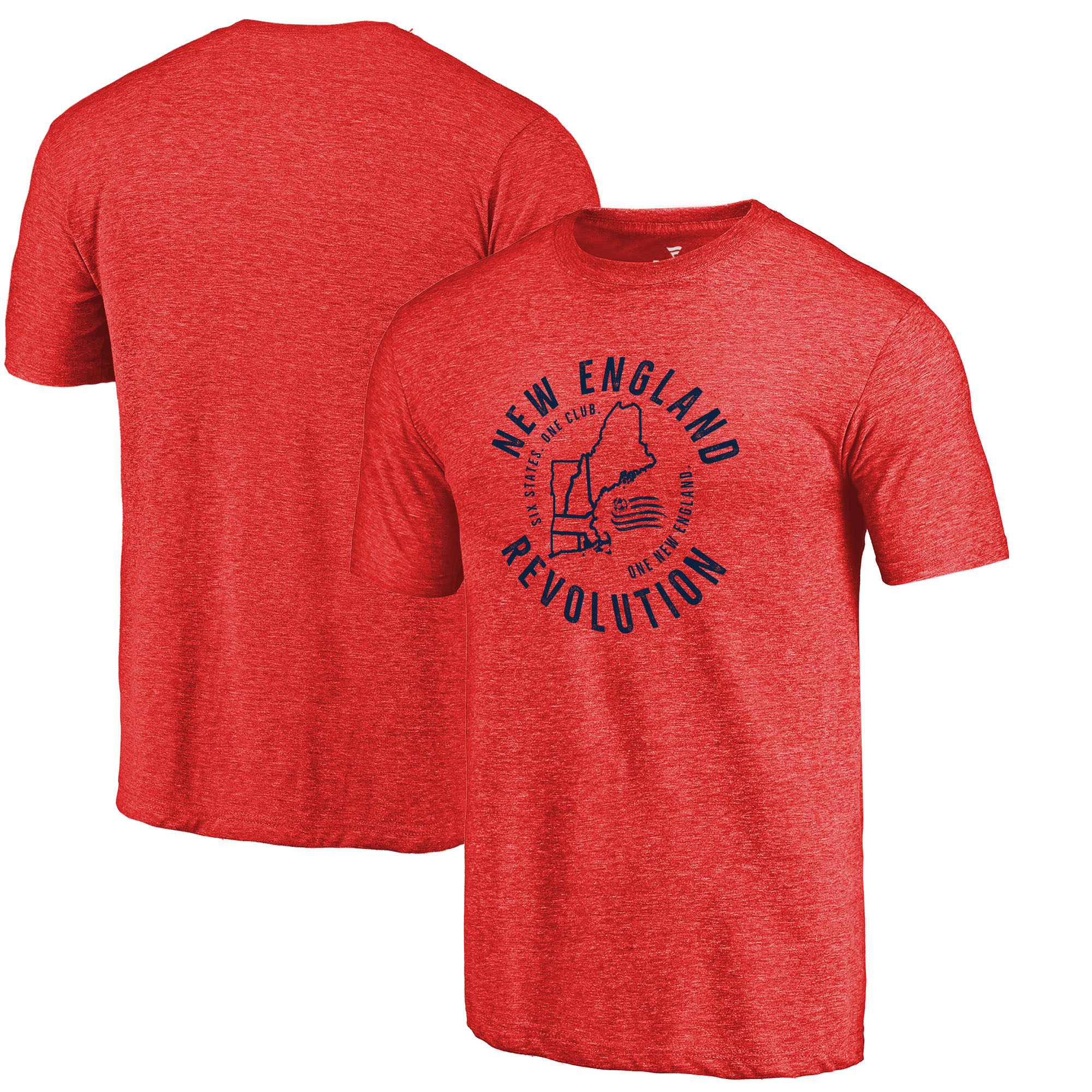 New England Revolution Fanatics Branded Hometown Collection Tri-Blend T-Shirt - Red
