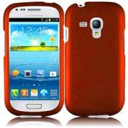Hard Rubberized Case for Samsung Galaxy S3 Mini i8190 - Orange