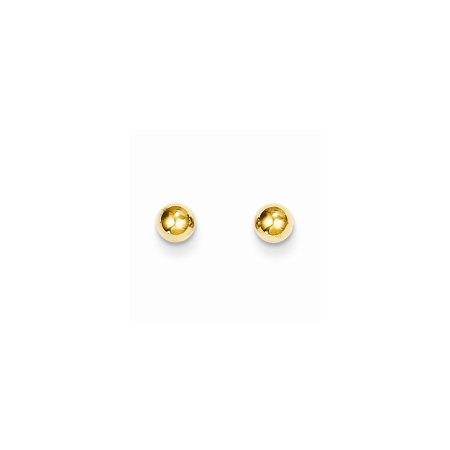 14k Yellow Gold 4mm Ball Post Stud Earrings Button Gifts For Women For Her