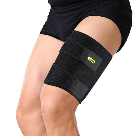 TMISHION Pro Adjustable Thigh Support Wrap with Silicone Anti-slip Strips for Pulled Strain Injury -