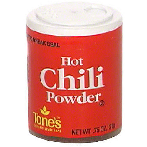 Tone's Hot Chili Powder, 0.75 oz (Pack of 6)