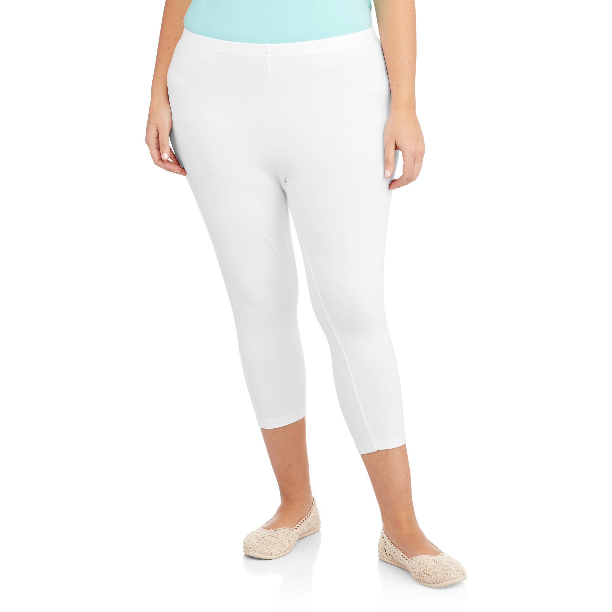 faded glory women's plus-size essential capri leggings - walmart