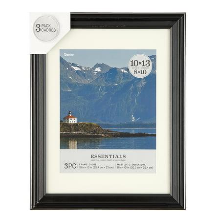 Darice Essentials Black Picture Frame: 10 x 13 in, 3