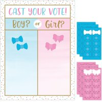 Pack of 6 Pink and Blue Gender Reveal Cast Vote Party Game 24""