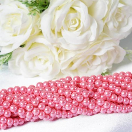 Black And Pink Party Decoration Ideas (Efavormart 9YARD 8mm Faux Pearl Bead for Party Favor DIY decorations Strands Garland Party TableTop Decoration - 10)