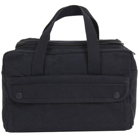 Black U-Shaped Zipper Canvas Mechanics Shop G.I. Medic Tool Utility Duffle Bag