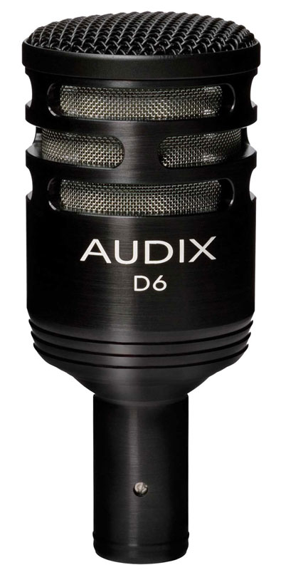 Audix D6 Cardioid Dynamic Instrument Kick Drum Microphone by Audix