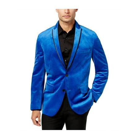 c8b6250e9 I-N-C Mens Velvet Two Button Blazer Jacket white 2XL