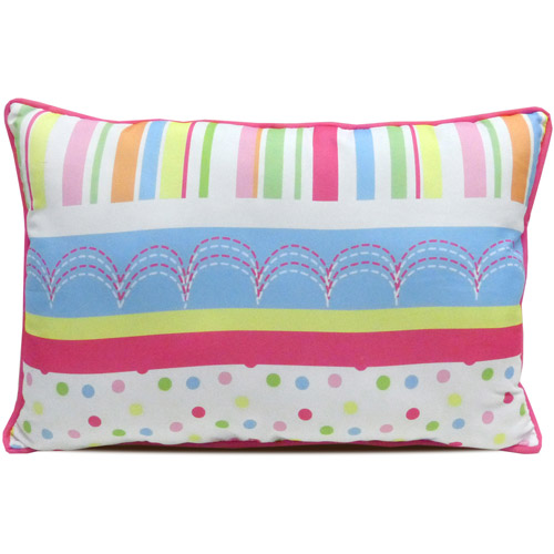 Mainstays Kids' Decorative Pillow, Bright Stripe