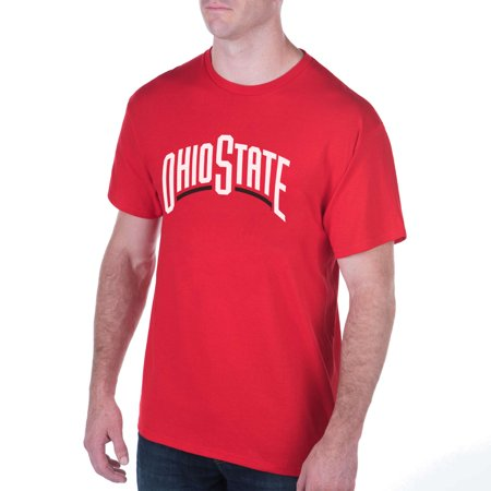 Men's Scarlet Ohio State Buckeyes Word T-Shirt - Ohio State Parks Halloween
