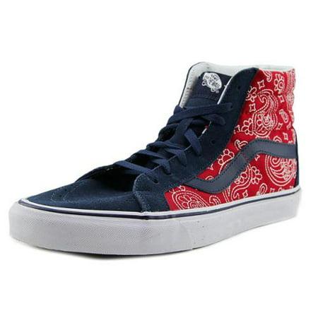 1362956210 Vans - Vans Sk8-Hi Reissue Men Round Toe Canvas Red Skate Shoe - Walmart.com