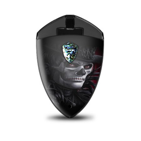 Skin Decal Vinyl Wrap for Smok Rolo Badge Vape stickers skins cover/ Dead Mask Skull Face Hat