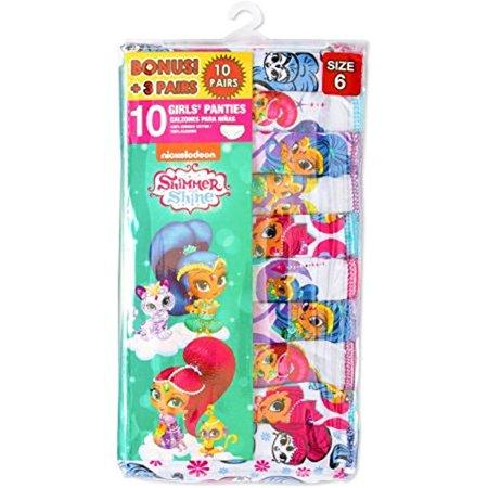 c75b881956 Shimmer   Shine - Big Girls Character Panties 10 Pack - Shimmer and Shine  (4) - Walmart.com