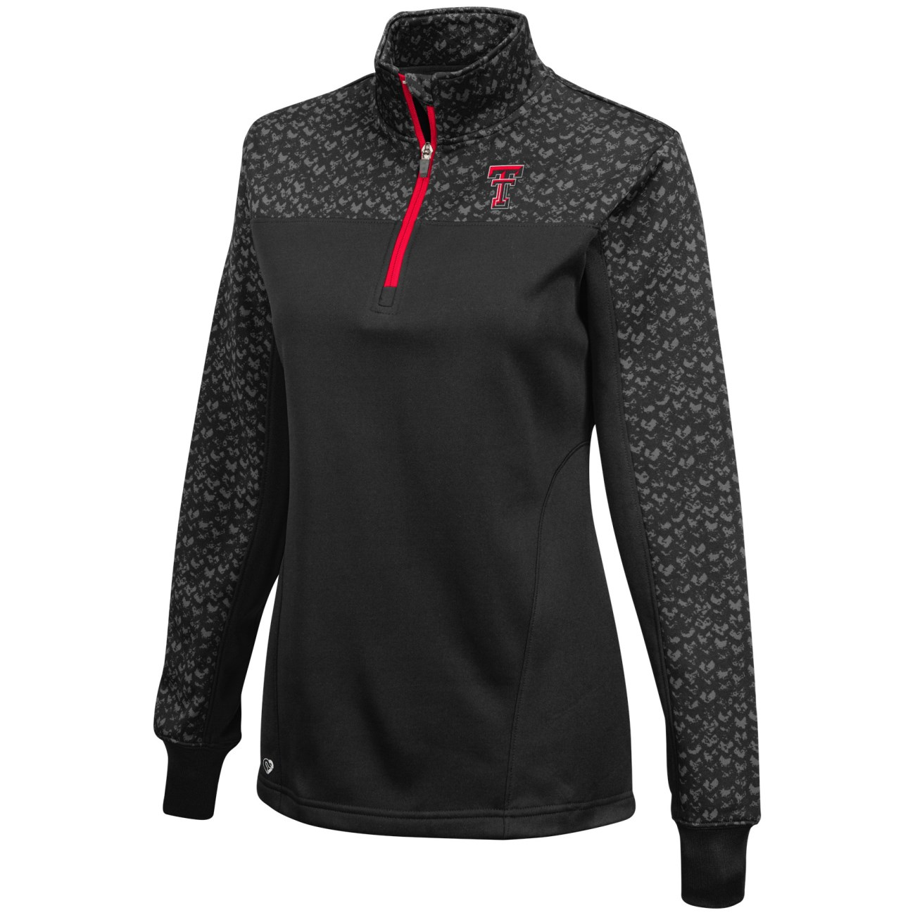 "Texas Tech Red Raiders Women's NCAA ""Burst"" 1/4 Zip Pullover Sweatshirt"
