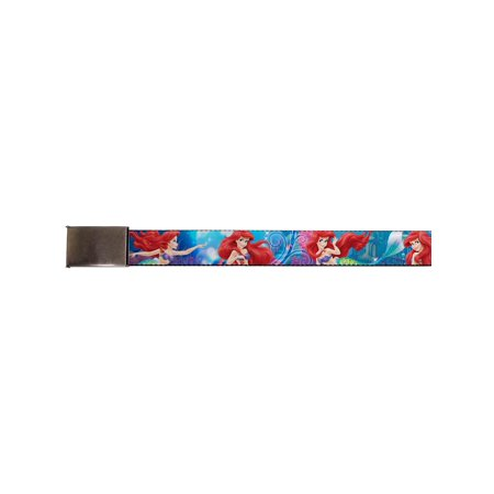 walt disney movies tv shows little mermaid web belt chrome ()