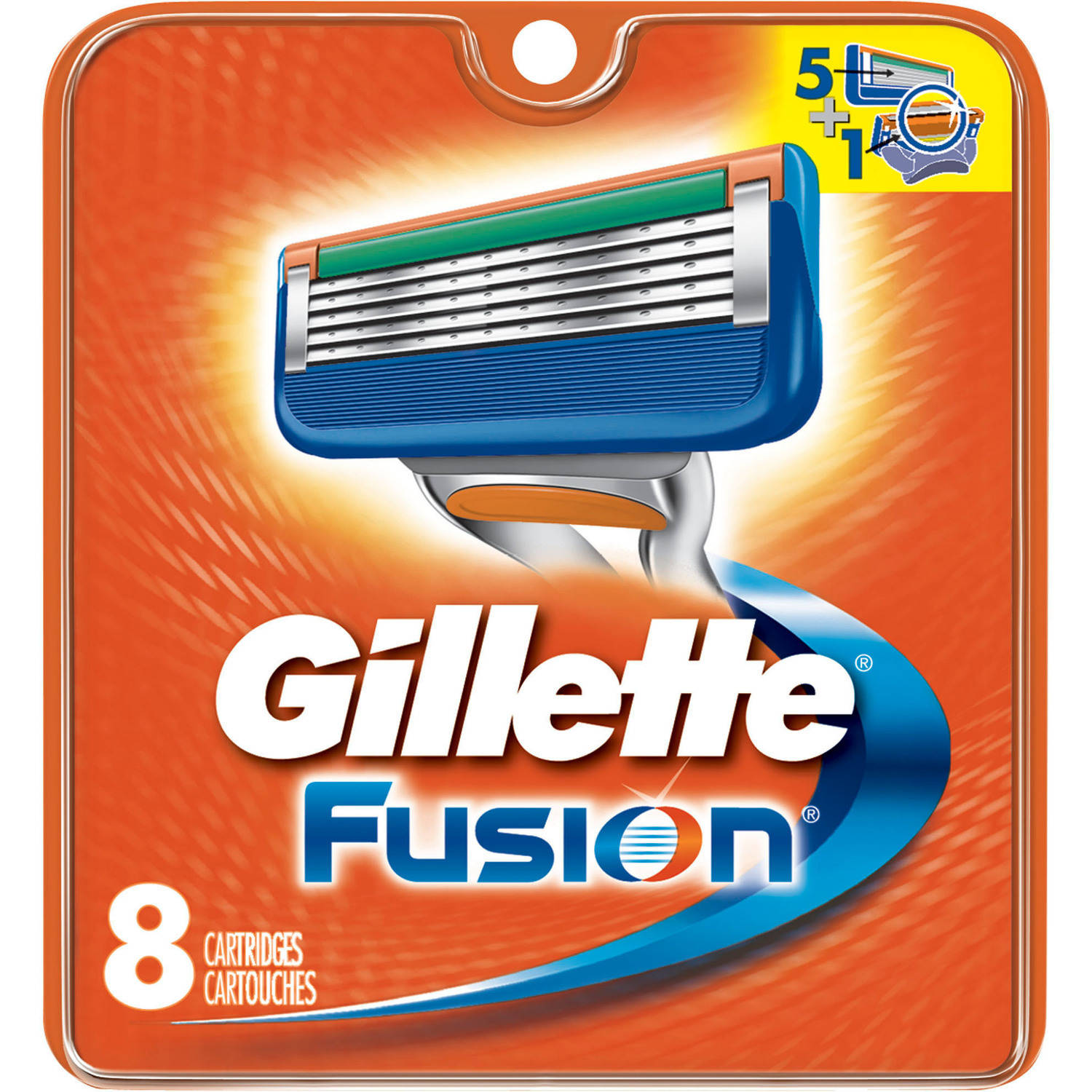 Gillette Fusion Razor Cartridge Refills, 8 count