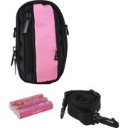 Inland Pink Pro Camera Case Kit, Includes 3 AAA Batteries