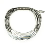 Tube Bracelet With Magnet Clasp Gray/sil