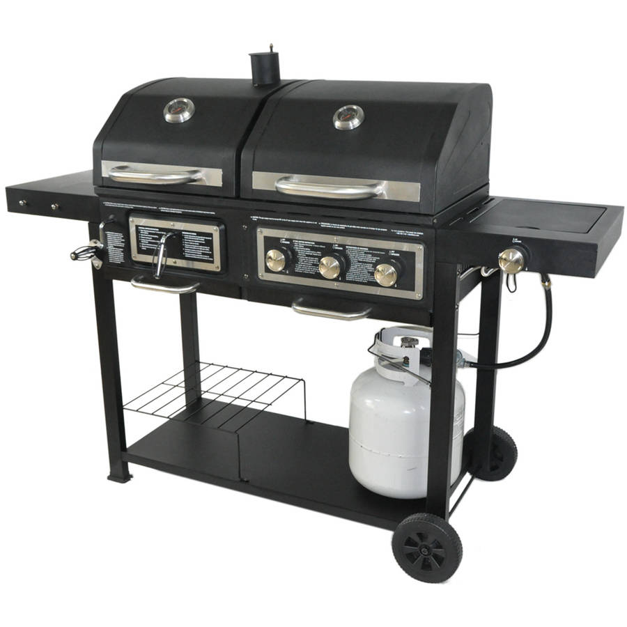 Dual Fuel Combination Charcoal Gas Grill by