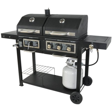 dual fuel combination charcoal gas grill best gas grills. Black Bedroom Furniture Sets. Home Design Ideas