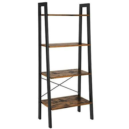 Admirable Vasagle Vintage Ladder Shelf 4 Tier Bookshelf Storage Rack Interior Design Ideas Clesiryabchikinfo