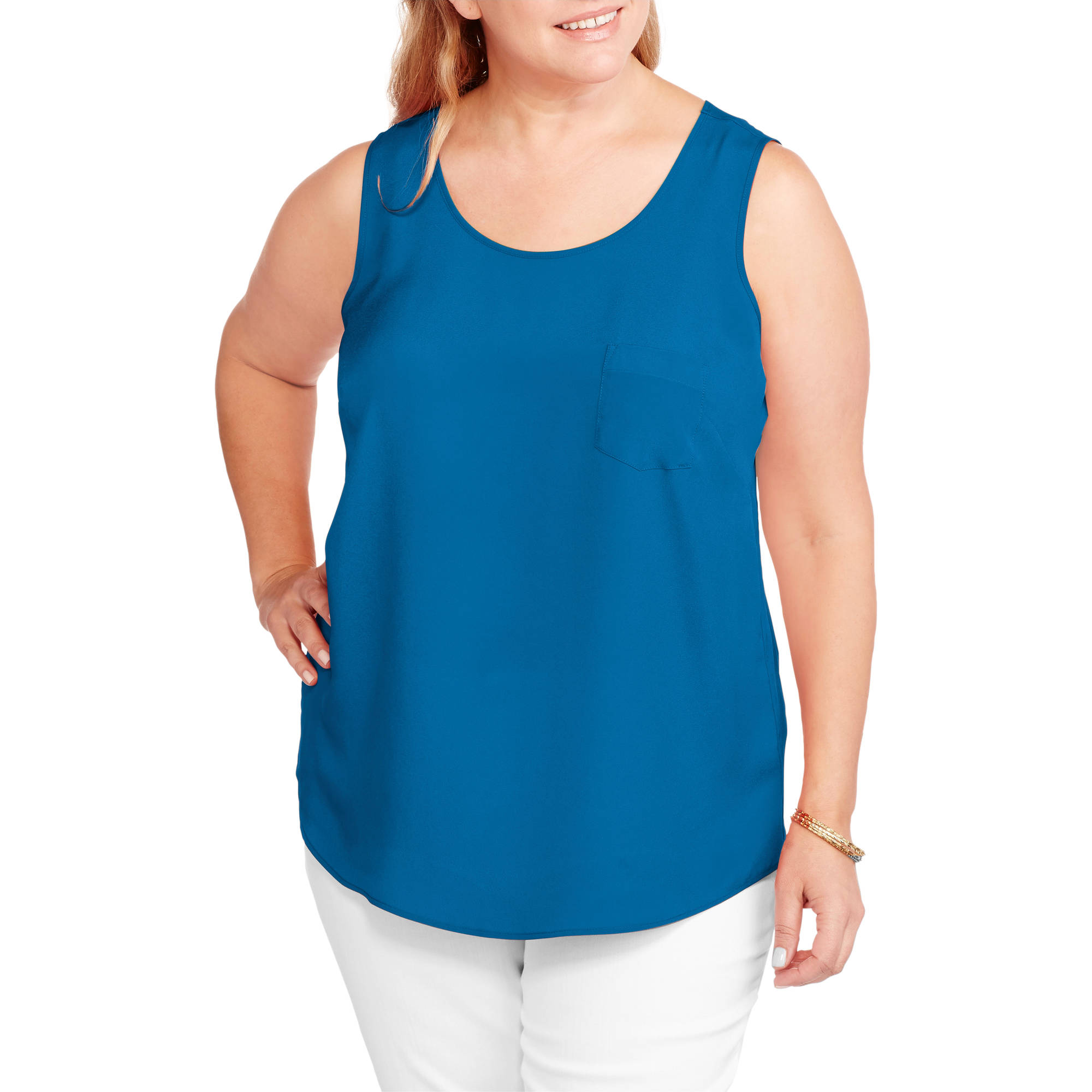 faded glory women's plus size woven tank top - walmart