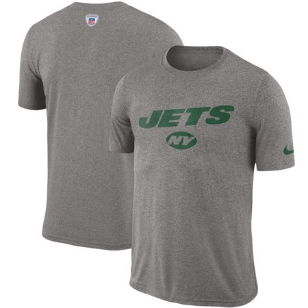 Nike Soccer Suit - New York Jets Nike Sideline Legend Sweat Reveal Lift Performance T-Shirt - Heathered Gray