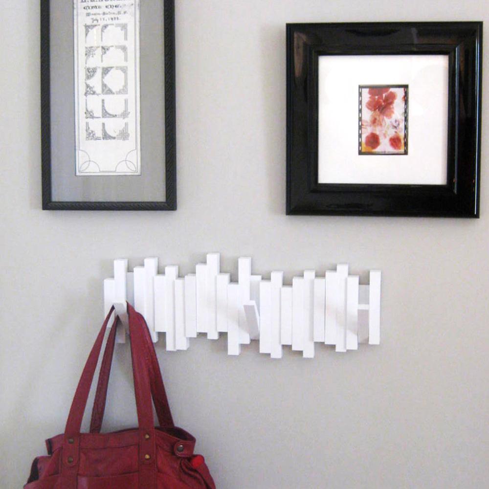 Purse Wall Hanger umbra coat rack sticks sculpture 5 hook wall mounted hanger purse