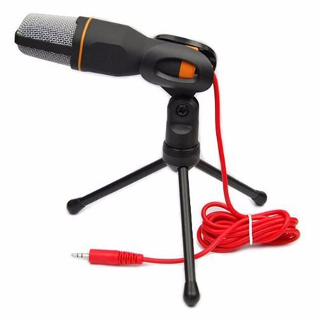 ESYNIC Microphone Professional Condenser Microphone Mic 3.5mm Sound Studio Recording Condenser Microphone Podcast Broadcasting Condenser Microphone Mic with Tripod Stand for PC Laptop Tablet Computer Professional Recording Sound Cards