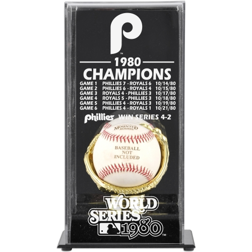 Philadelphia Phillies Fanatics Authentic 1980 World Series Champions Baseball Display Case - No Size