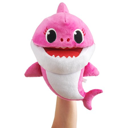 Pinkfong Baby Shark Official Song Puppet with Tempo Control - Mommy Shark - Interactive Preschool Plush Toy - By WowWee (Interactive Shark)