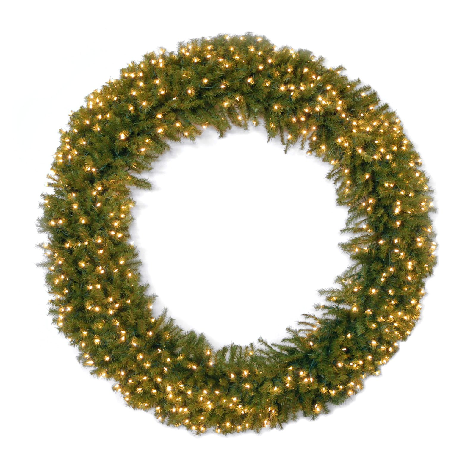 """National Tree 48"""" Norwood Fir Wreath with 200 Clear Lights"""
