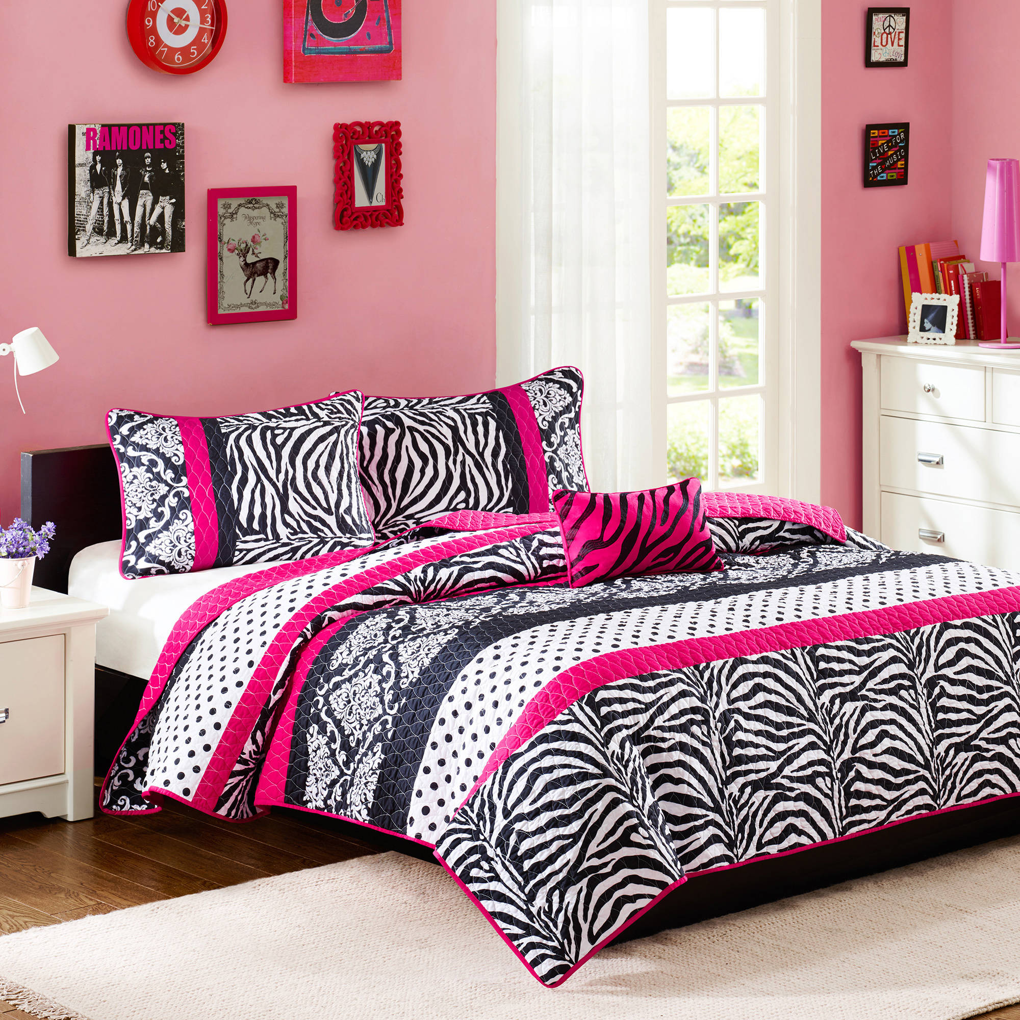 Home Essence Teen Leona Printed Coverlet Bedding Set