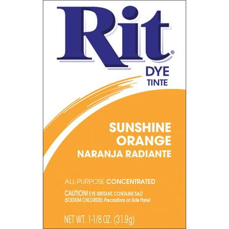 Orange Dye - Rit: Sunshine Orange 43 Dye, 118 Oz