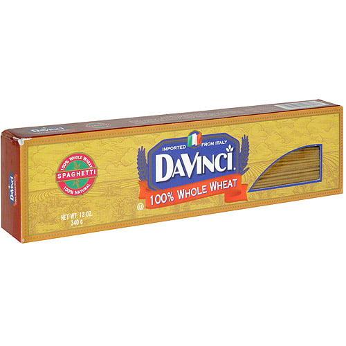DaVinci Whole Wheat Spaghetti, 12 oz (Pack of 12)