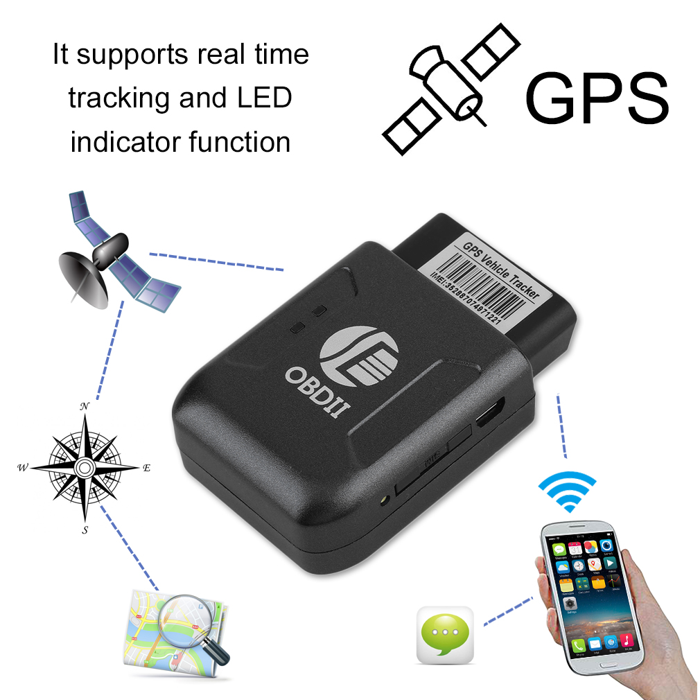Mini Portable OBD II Cars Vehicles Truck GPS GSM GPRS Real Time Tracker OBD2 Tracking Device Monitor Locator TK206