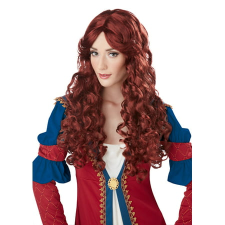 Womens Auburn Renaissance Halloween Costume - Halloween Costume Red Wig