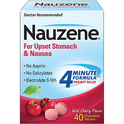 Nauzene Chewables For Nausea Wild Cherry Flavor Tablets, 40ct