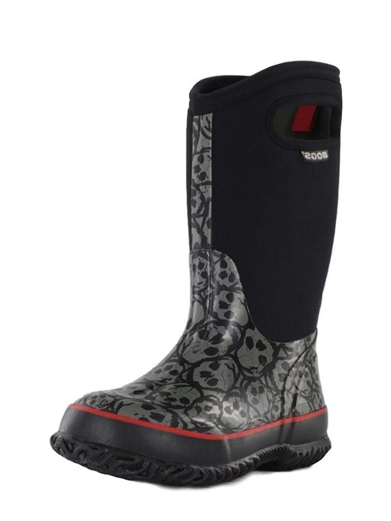 """Bogs Boots Boys Kids 10"""" Classic Skulls Waterproof Rubber 71440 by Bogs"""